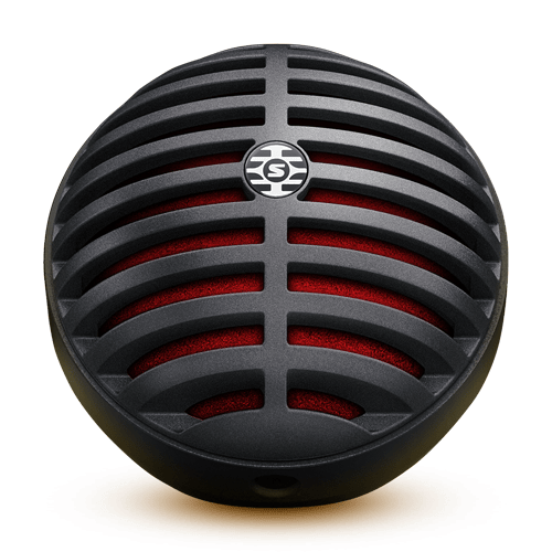 Microfone MV5-LTG Preto e Vermelho