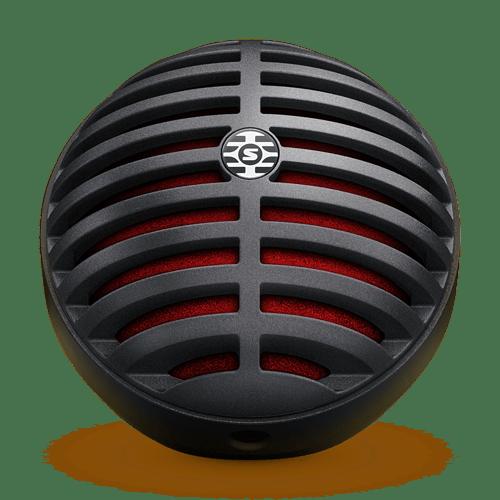 Microfone Digital Shure MV5 MV5/A-B-LTG Preto e Vermelho
