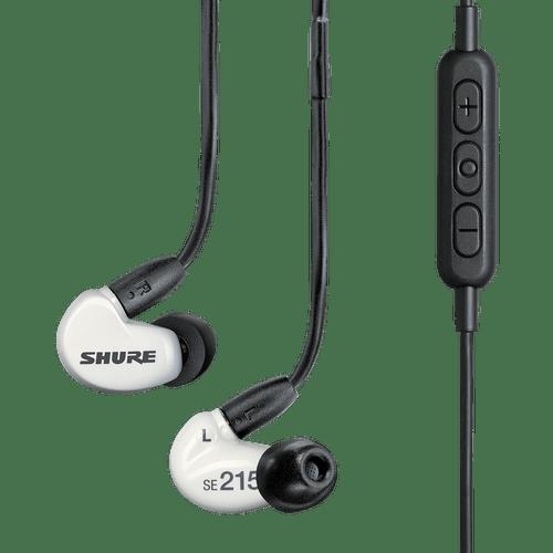 Fone de Ouvido Sem Fio In-Ear Shure SE215 Bluetooth SE215SPE-W-BT1 Branco