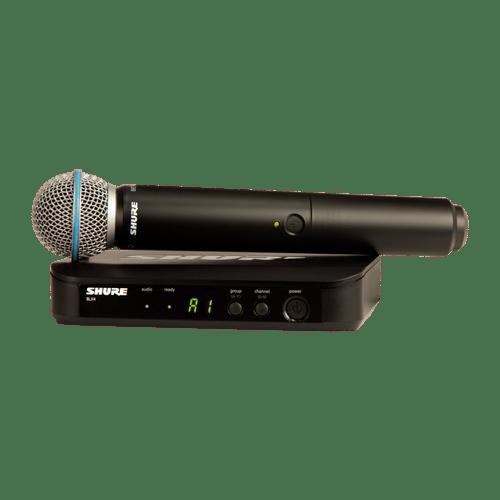 Microfone de Mão Sem Fio Shure BLX24/B...