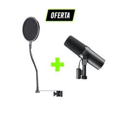 Kit-Podcast-e-Radio-Pro-com-Microfone-SM7B-Shure---Pop-Filter-_01_OFERTA