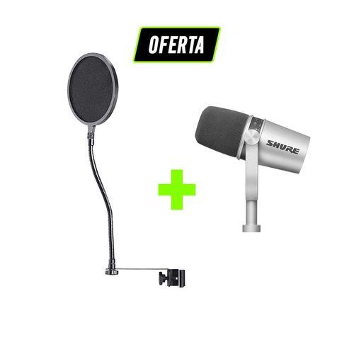 Kit-Podcast-e-Radio-Pro-com-Microfone-MV7-Shure---Pop-Filter-_01_OFERTA